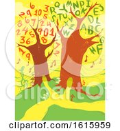 Poster, Art Print Of Nature Trees Learning Illustration