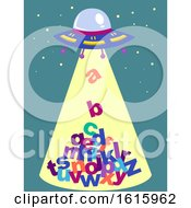 Poster, Art Print Of Abduct Letters Illustration