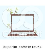 Laptop Eco Friendly Illustration