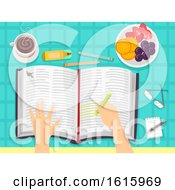 Poster, Art Print Of Bible Book Hand Daily Devotion Illustration