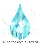 Donation Water Drop Hands Illustration