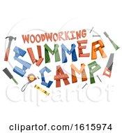 Poster, Art Print Of Woodworking Summer Camp Illustration