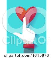 Poster, Art Print Of Hand Online Donation Button Illustration