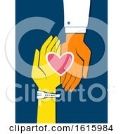 Poster, Art Print Of Hands Heart Doctor Patient Illustration
