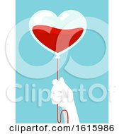 Poster, Art Print Of Hand Donate Blood Illustration