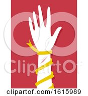 Hand Self Harming Awareness Illustration