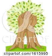Tree Hand Hold Illustration