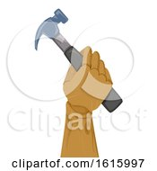 Wooden Hand Hammer Illustration