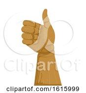 Poster, Art Print Of Wooden Hand Ok Illustration