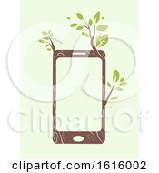 Mobile Phone Eco Friendly Illustration