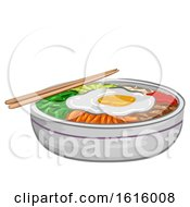 Korean Food Bibimbap Illustration