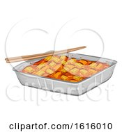 Korean Food Tteokbokki Illustration