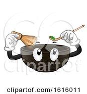 Poster, Art Print Of Mascot Bowl Make Matcha Illustration