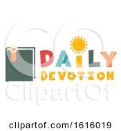 Poster, Art Print Of Daily Devotion Lettering Illustration