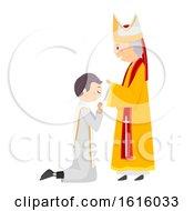 Poster, Art Print Of Stickman Priest Ordination Illustration