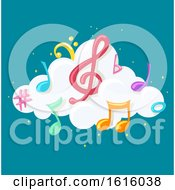 Online Music Lullaby Illustration
