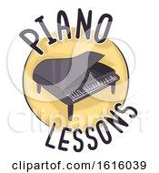 Piano Lessons Icon Illustration