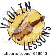 Violin Lessons Icon Illustration