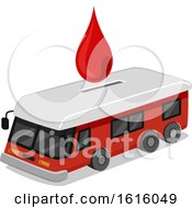 Donate Blood Collection Bus Illustration