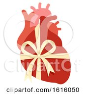 Poster, Art Print Of Donate Organ New Heart Illustration