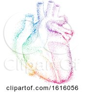 Pointillism Heart Illustration