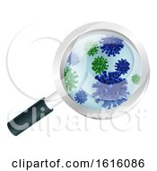 Bacteria Or Virus Under A Magnifying Glass
