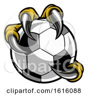 Poster, Art Print Of Eagle Bird Monster Claw Talons Holding Soccer Ball