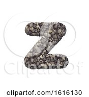 Gravel Letter Z Lower Case 3d Crushed Rock Font Nature Envi On A White Background