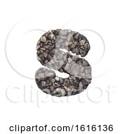 Gravel Letter S Lowercase 3d Crushed Rock Font Nature Envir On A White Background