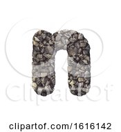 Gravel Letter N Lower Case 3d Crushed Rock Font Nature Envi On A White Background