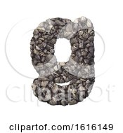 Gravel Letter G Lowercase 3d Crushed Rock Font Nature Envir On A White Background