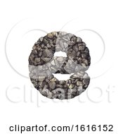 Gravel Letter E Lower Case 3d Crushed Rock Font Nature Envi On A White Background