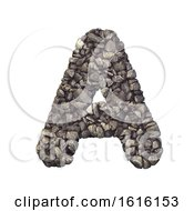 Gravel Letter A Capital 3d Crushed Rock Font Nature Environ On A White Background by chrisroll