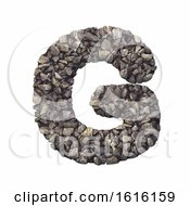 Gravel Letter G Upper Case 3d Crushed Rock Font Nature Envi On A White Background