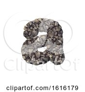 Gravel Letter A Lowercase 3d Crushed Rock Font Nature Envir On A White Background by chrisroll
