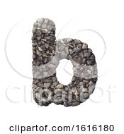 Gravel Letter B Lower Case 3d Crushed Rock Font Nature Envi On A White Background