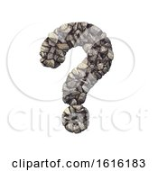 Gravel Interrogation Point 3d Crushed Rock Symbol Nature En On A White Background by chrisroll