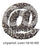 Gravel Sign At Symbol 3d Crushed Rock Symbol Nature Environment Building Materials Or Real Estate Concept On A White Background by chrisroll