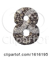 Gravel Number 8 3d Crushed Rock Digit Nature Environment On A White Background by chrisroll