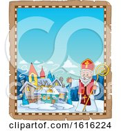 Border With A Waving Saint Nicholas