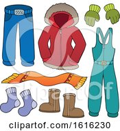 Poster, Art Print Of Winter Clothes And Accessories
