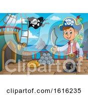 Pirate Boy On A Ship Deck
