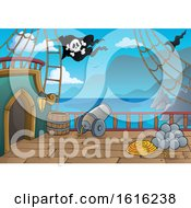 Clipart Of A Pirate Ship Deck Royalty Free Vector Illustration