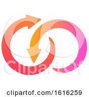 Clipart Of A Gradient Arrow Design Royalty Free Vector Illustration by Vector Tradition SM
