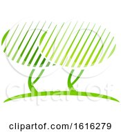 Clipart Of A Green Tree Design Royalty Free Vector Illustration