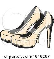 Pair Of Wedding High Heels
