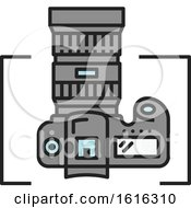 Clipart Of A Camera Design Royalty Free Vector Illustration