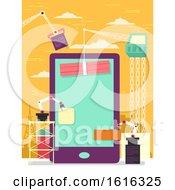 Mobile Apps Construction Illustration