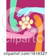 Hands Animal Welfare Charity Illustration