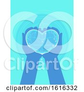 Poster, Art Print Of Hands Heart Clean Water Donate Illustration